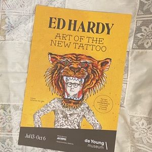 Ed Hardy de Young exhibit poster